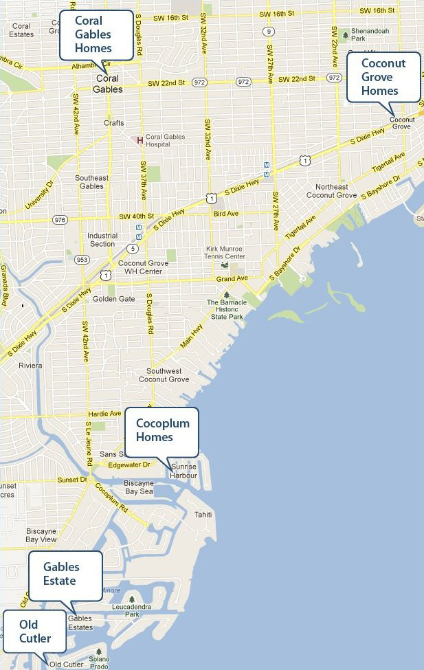 South Miami Waterfront Homes For Sale